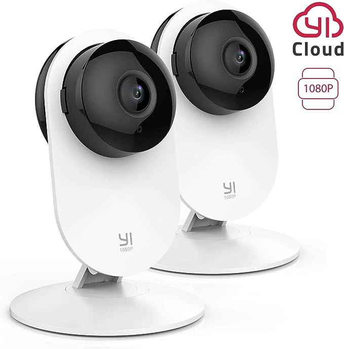 YI Home Cámara IP 1080P WiFi Cámara de Vigilancia Interior con Detección de Movimiento, Notificaciones Push, Audio bidireccional, Visión Nocturna, Smart Cámara para Teléfono/PC, Kit de 2: Amazon.es: Electrónica