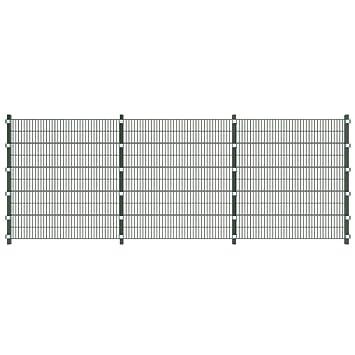 Vidaxl 6m Gittermatten Zaun Zaunfelder Metall Gartenzaun 2 M