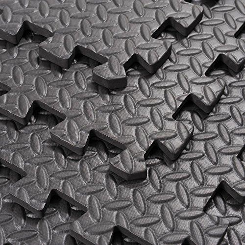 Interlocking Exercise Protective Tile Flooring 216 Sq Ft Gym Floor Mat With Ebook by MRT SUPPLY