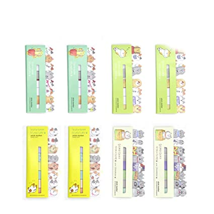 eilova funny cat sticky notes animal page flags index tabs memo pads marker self stick