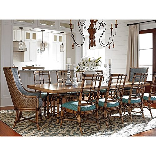 Tommy Bahama Twin Palms Caneel Bay Extendable Dining Table in Brown - Caneel Bay