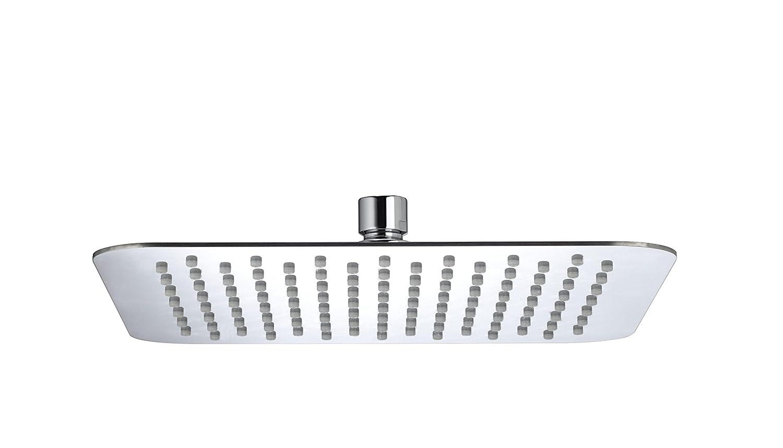 Bristan FH SLSQ01 C 200 mm Slimline Square Fixed Head - Chrome Plated