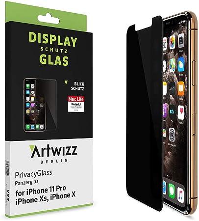 Artwizz Privacyglass Schutzglas Designed Für Iphone 11 Pro Xs X Mit Privacy Effekt Displayschutz Mit 100 Abdeckung Anti Spy Blickschutz Funktion Elektronik