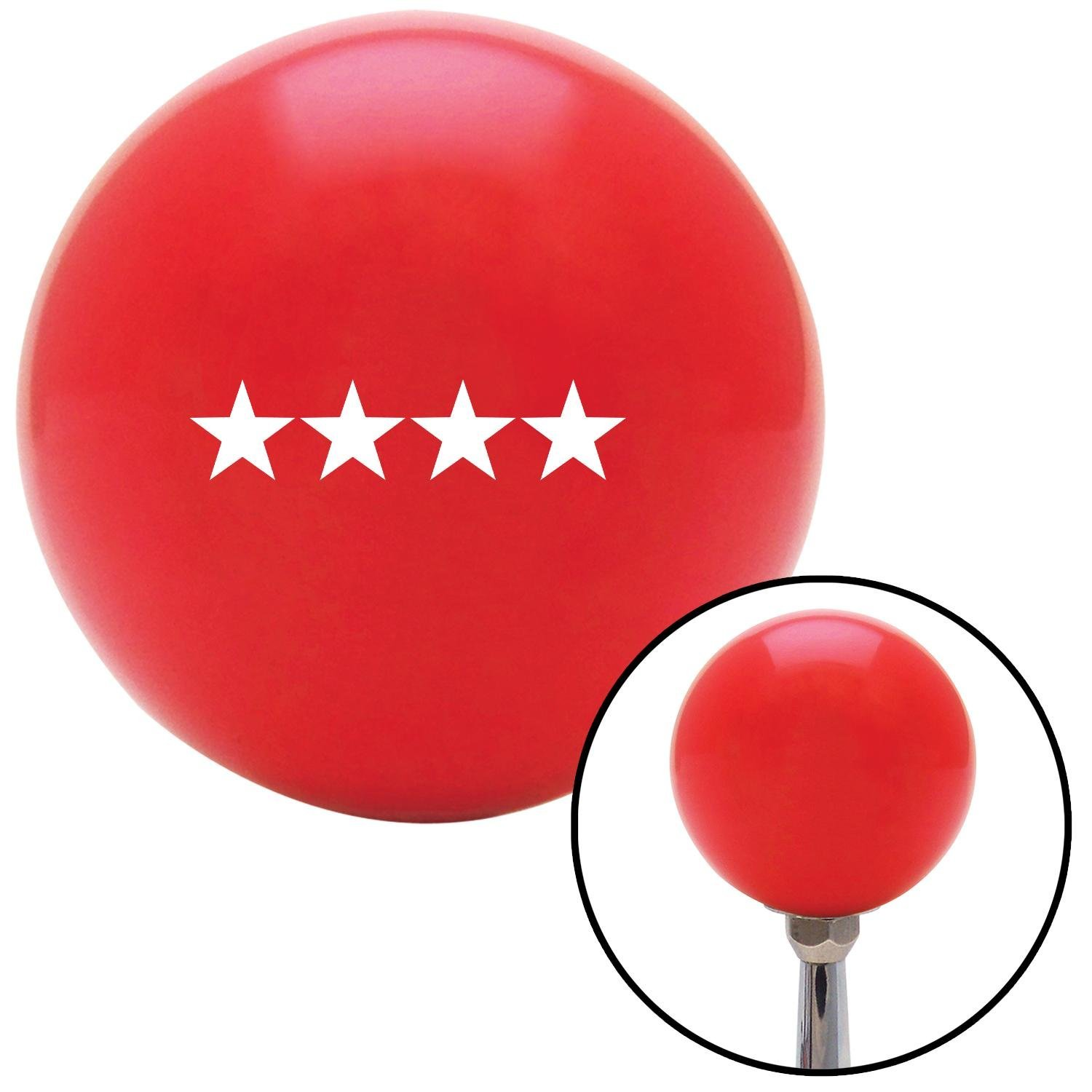 American Shifter 98293 Red Shift Knob with M16 x 1.5 Insert White Admiral