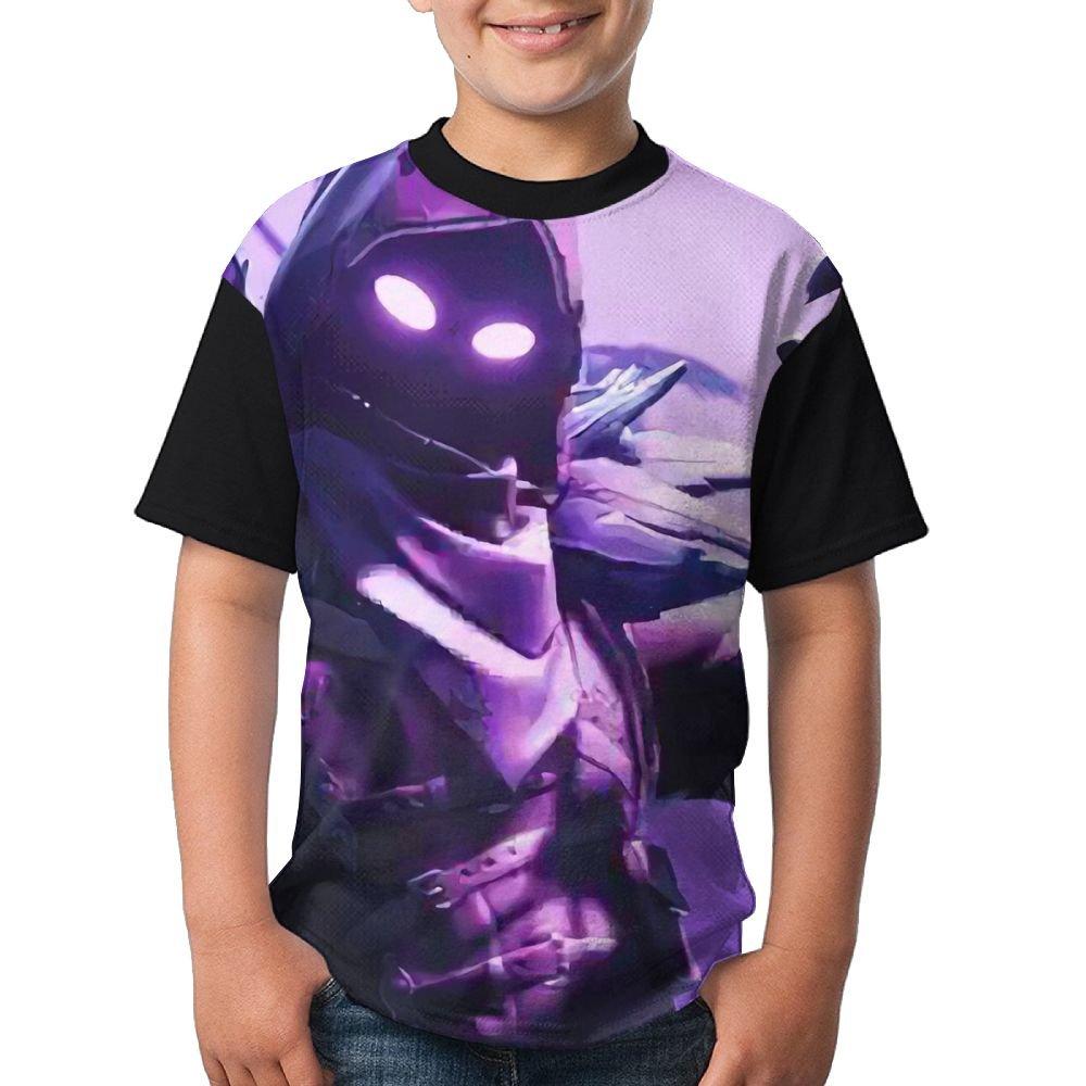 Raven Youth Boys Short Sleeve Round Neck Tops T Shirt M