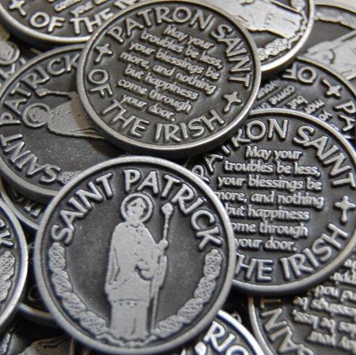 Irish Coin Set - Set of 25 Saint Patrick Patron of the Irish Pocket Token Coins