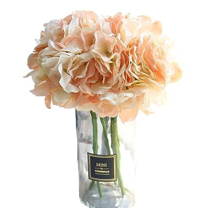 Amazon Kirin Artificial Fake Flowers Plants Silk Hydrangea