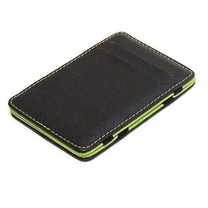 Processes Minimalist Men Wallet Rfid Slim Card Organizer Purse Magic carteras Minimalista,Green