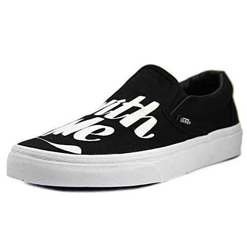 Zapatillas Vans - Classic Slip-On (Baron Von Fancy) negro/blanco talla: 40: Amazon.es: Zapatos y complementos