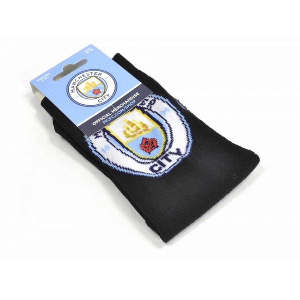 Manchester City FC Unisex Crest Socks (1 Pair) UTBS1095_1