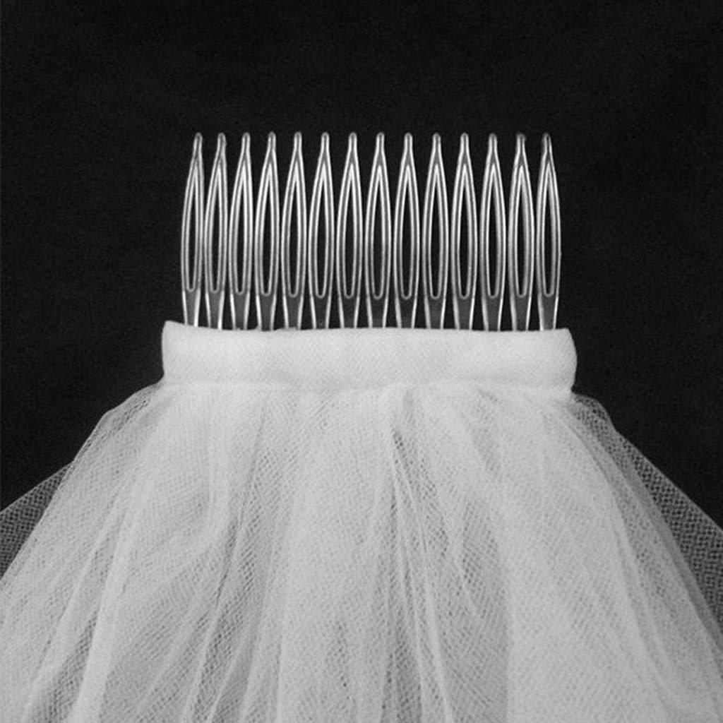 Veils For Brides Ivory Wedding Veil Bowknot,Ribbon Edge Headbands,Wedding Party Veil