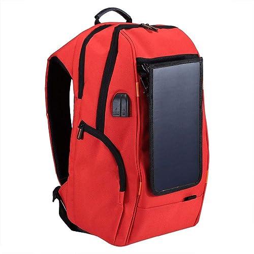 Haweel Mochila informal de potencia de panle solar respirable multifuncional al aire libre Bolsas para tableta