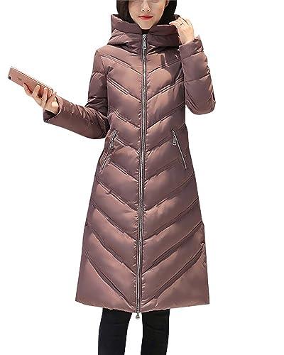 Casuales Cálido De Las Mujeres Abrigo Largo Warm Abrigo Chaqueta Con Capucha