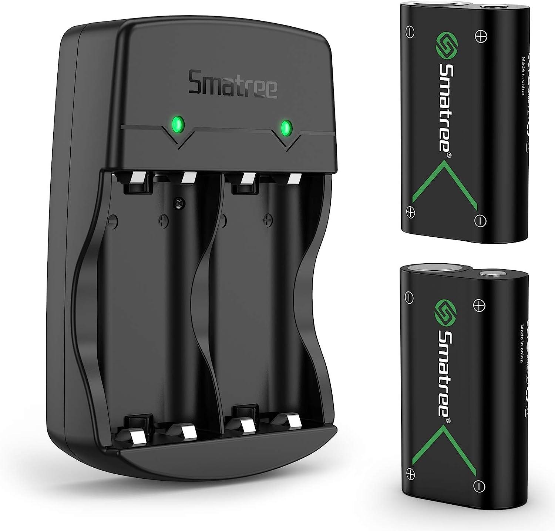 Smatree Batería de Controlador Xbox One, Xbox Series X/ S, Batería Recargable & Cargador de Batería Dual para Xbox One, Xbox One Elite, Xbox One S, Xbox One X, Xbox Series X, Xbox Series S