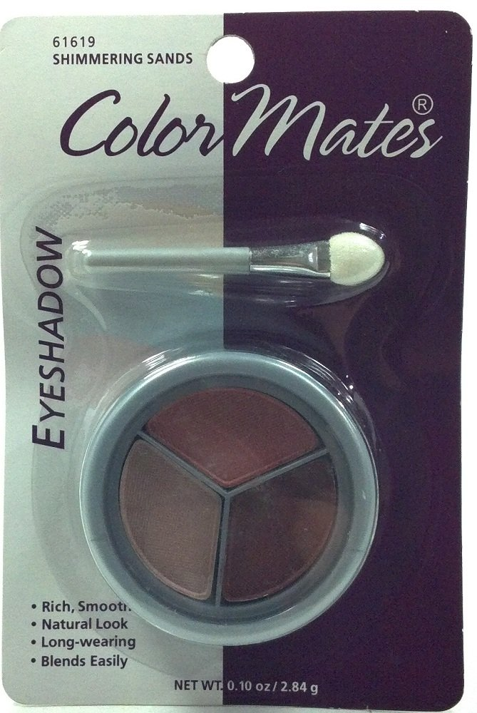 Color Mates Shimmering Sands Eyeshadow 61619 Rich Smooth Natural Look Long Wearing Blends Easy .10 Oz. (1 Each)