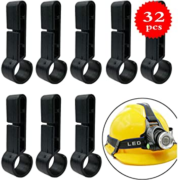 helmets andSombrero duro GuangTou 32 pcs Headlamp Clip suitable for various headlamps for Sombrero duro helmet headlamp clip