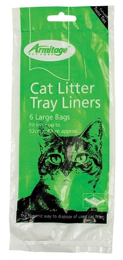 Armitage Arenero Para Gato Forro Verde Grande (paquete de 12)