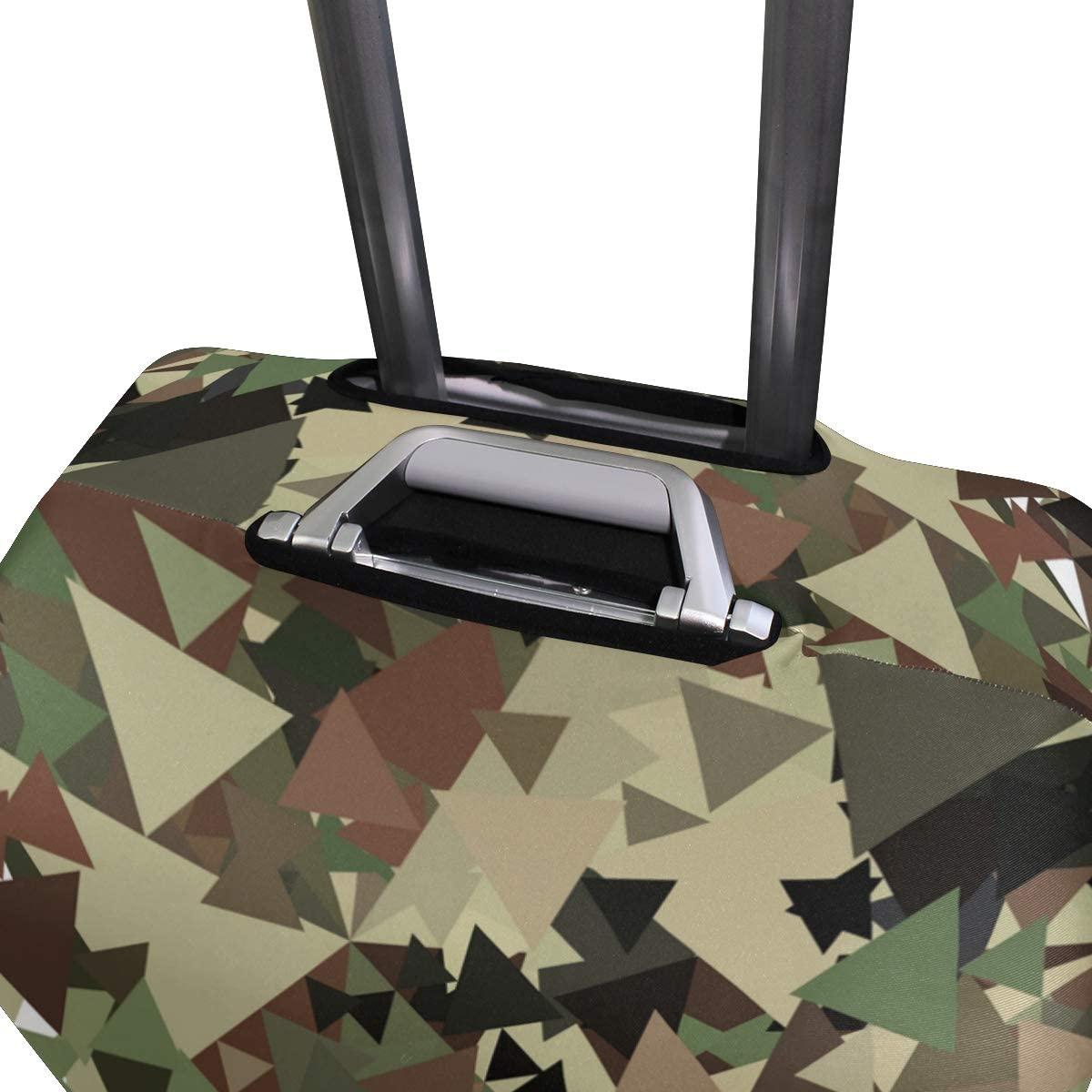 FOLPPLY Green Camo Triangle Luggage Cover Baggage Suitcase Travel Protector Fit for 18-32 Inch