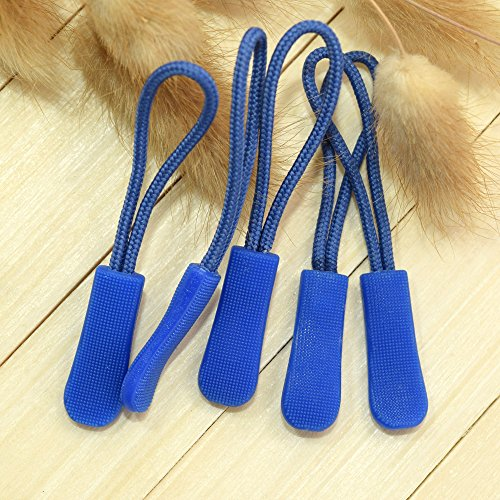 Pack of 10pcs Zipper Pulls (Dark Blue) Dark Blue Zipper