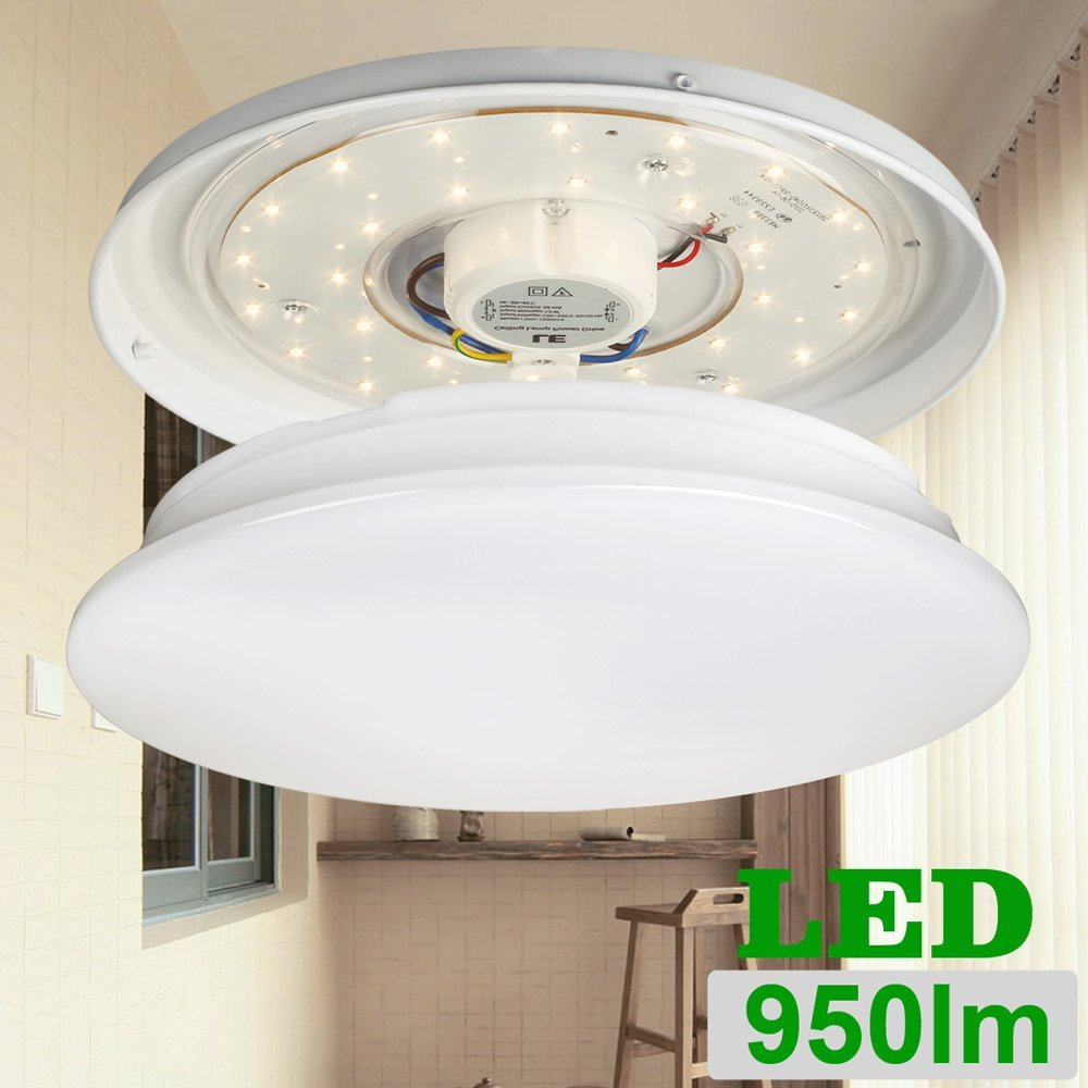 LE 12W 11-Inch Warm White LED Ceiling Lights, 80W Incandescent (22W ...