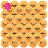 KEVENZ 50-Pack 3-Star 40mm WhiteTable Tennis Balls,Advanced Tournament Ping Pong Balls (Tournament ping-pong Ball)