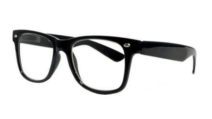 ff81227a89 Lunettes style Wayfarer - design 80's couleur noire: Amazon.fr ...