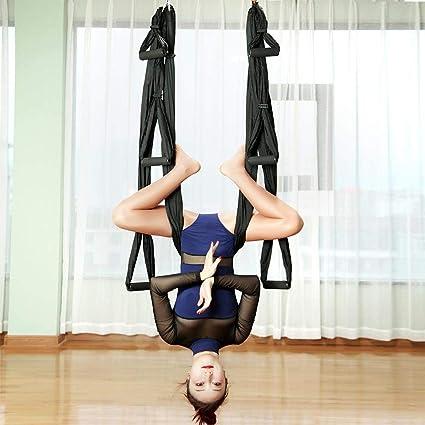 FDBRO Hamaca de Yoga Swing Yoga Antena Yoga Aire Seda Yoga Hamaca Ultra Fuerte Antigravedad Descompresión Hamaca Reversión Trapeze Sling Ejercicios ...
