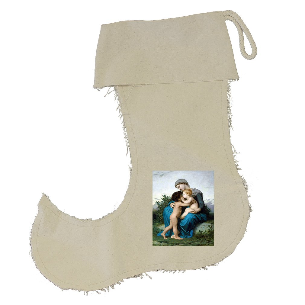 Fraternal Love (Bouguereau) Cotton Canvas Stocking Jester - Large
