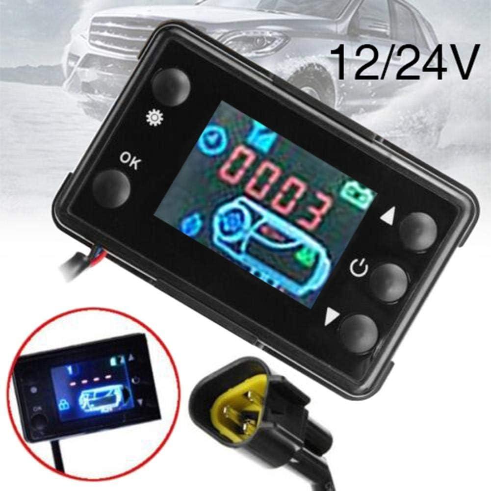 iYoung Accessori Controller Controller di parcheggio riscaldatore per Auto riscaldatore 12V24V Interruttore Monitor LCD Controller riscaldatore parcheggio per Pista Auto Diesel