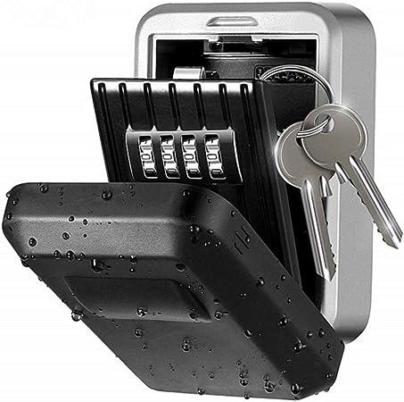 Montable en pared llave caja combinación Gabinete,Key Lock Caja almacenamiento 4 dígitos combinación cerradura caja,montado en pared titular clave Clave Caja Seguridad Código almacenamiento caja caja: Amazon.es: Hogar