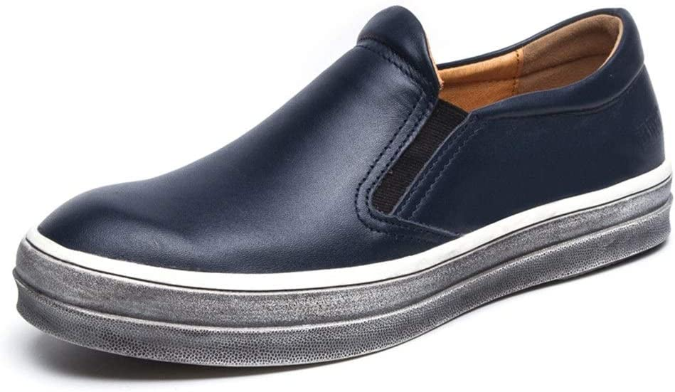 Best-choise Classic Oxford para Hombre Resbalón Casual Diario en Mocasines Bandas elásticas de Cuero Genuino Mocasín Zapatos náuticos Llamativo (Color : Azul, tamaño : 40 EU): Amazon.es: Hogar