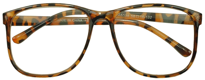 4ae72917d30 Amazon.com  Sunglass Stop - Round Oversized Horn Frame Optical Rx +1.00 thru  +3.50 Reading Glasses (Tortoise