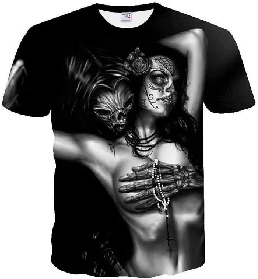 Camiseta Impresión 3D Cráneo Camisetas Hombre Camiseta de ...
