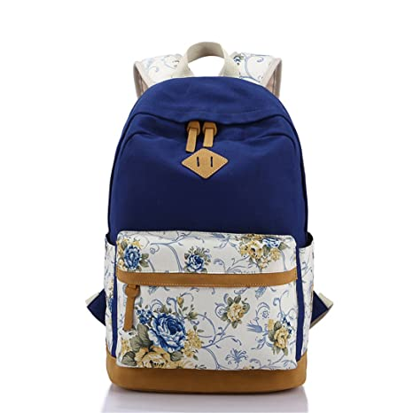 SHUB Canvas Floral Printing Satchel Rucksack Backpacks School Bags For Teenage Girls Women Backpack Mochila Escolar
