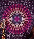 Indien Mandala Tapisserie, mur indienne Suspendre, Drap Housse, Couvre-lit de pique-nique Plage, Drap, Qualité Supérieure Hippie mur, tapisserie décoration bohème ou Résidence Mandala tapisseries, Tapisserie pyshedlic, décor coton couvre-lit Couvre-lit, 218,4x 238,8cm. Par bhagyoday
