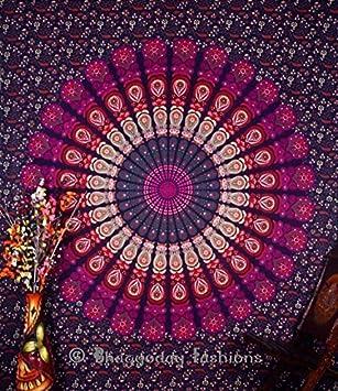 Mandala Indien Tapisserie Hippie Boheme Decoration Murale A