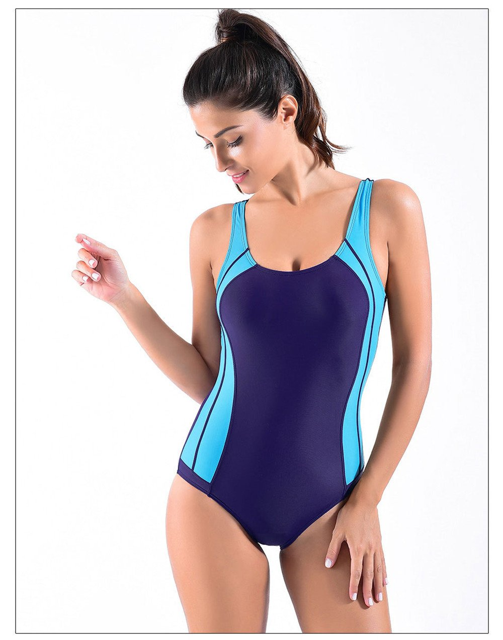 Amadoierly One Piece Badeanzug Sexy Neckholder Bademode Dame B07CW1TRSC Wettkampf-Badeanzüge Gutes Design