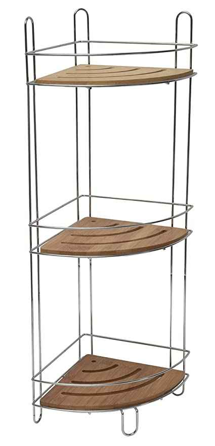 Amazon.com: Evideco Freestanding Metal Wire Corner Shower Caddy with ...