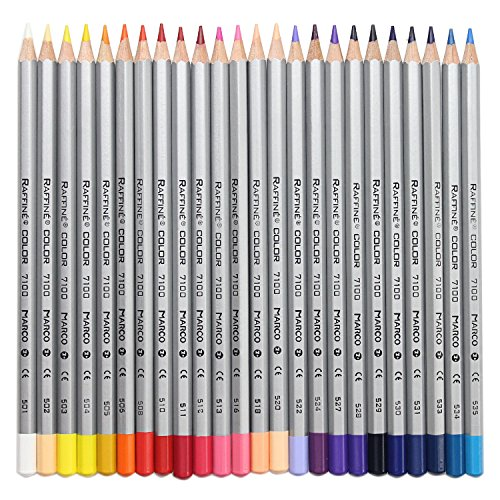 Huhuhero Marco Raffine 48 Color Pencil Set Premium Art Drawing Colored Pencils for Artist Sketch / Adults Coloring Book Writing / Drawing / Sketching>