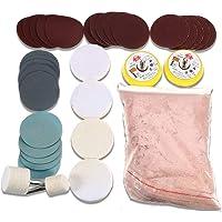 Ertres - Juego de almohadillas para orejas de pulido de vidrio para reparación de ventanas (34 piezas)