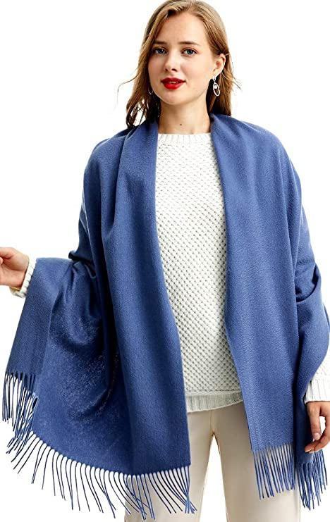 Women Ladies Long New Single Pure Colour With Line Shawl Scarf  Warp Stole