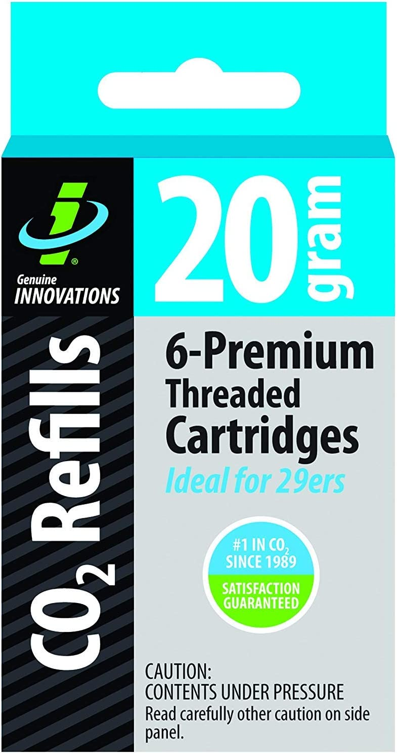 Innovations 16 Gram Threaded CO2 Cartridges for Bicycle Tires (6-Pack)