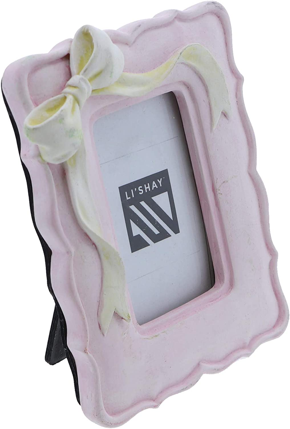 Baby Photo Frame with Bow for Pictures 2 x 3 Pink