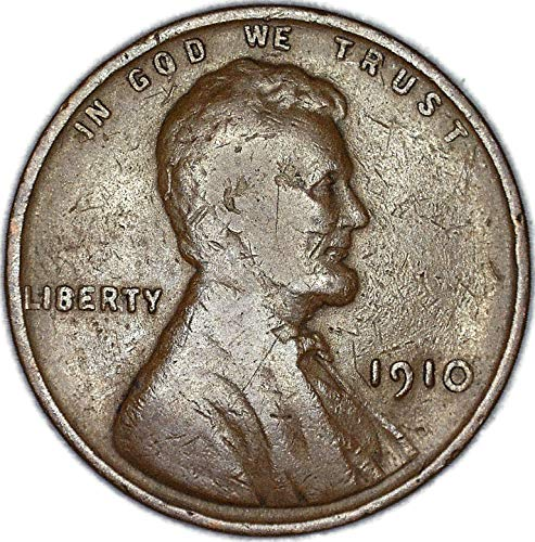 1910 P Lincoln Wheat Penny Good