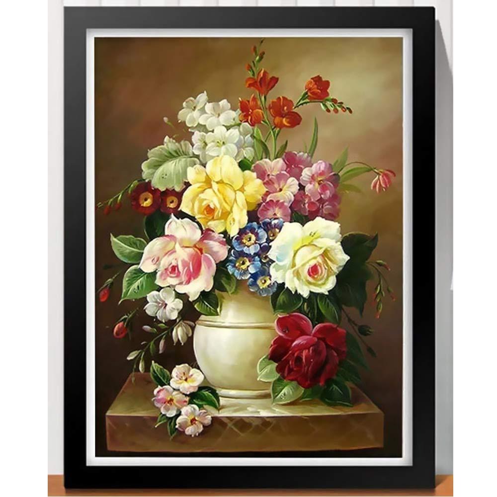 Flower Art 3D Craft Artificial Diamond Crystal Painting Handicrafts not Include Frames (130 * 107cm)