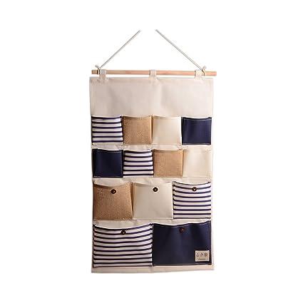 WINOMO Compartimiento de almacenamiento bolsillos pared puerta armario colgante  organizador de bolsa de almacenamiento-talla 3270794304d8