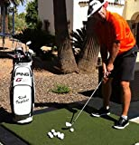 Golf Practice Mat 3 Item Bundle   5x5 Country Club Elite   Ball Tray   Shag Tube