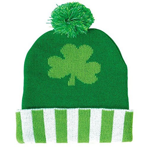 [Amscan St. Patrick's Day Knitted Beanie Costume Party Head Wear Accessory (1 Piece), Green, 11