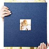 Self Adhesive Photo Album 13'x12.6' Magnetic Scrapbook Album 40 Magnetic Double Sided Pages Linen Hardcover DIY Photo Album