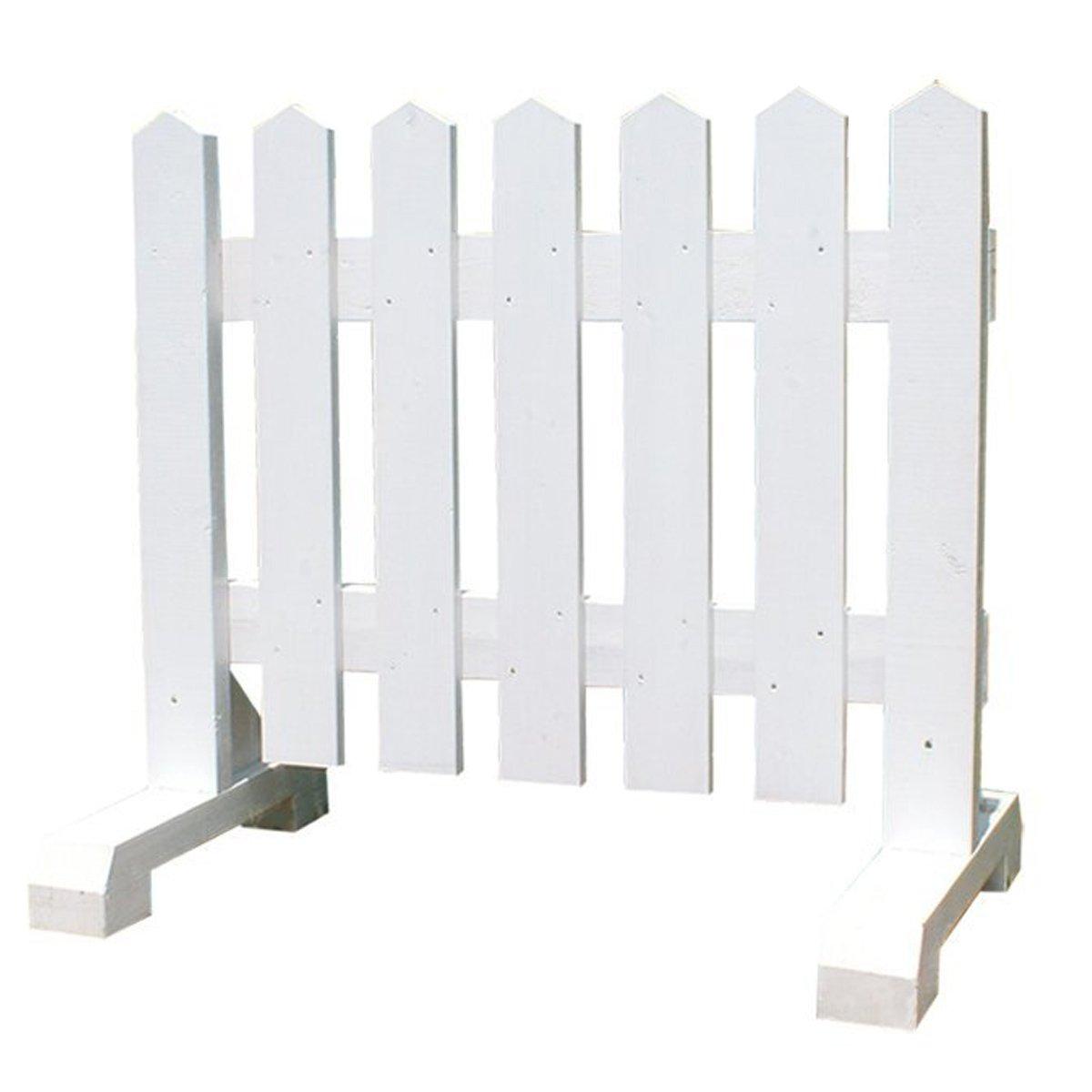 木製 ピケットフェンス -ホワイト- 【受注製作品】 (幅150cm) 犬 目隠し 屋外 飛び出し防止 柵 ガード さく 木製フェンス B01193I4SG 17060 幅150cm  幅150cm